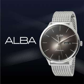 Alba Men Automatic AL4103X1 Jam Pria AL4103X AL4103 Black Gradation Stainless