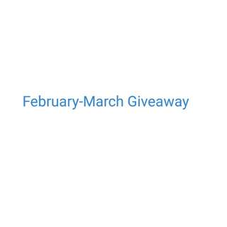February-March Giveaway Official Post (Feb 24-March 24, 2018)