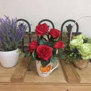 Bunga siap gubah 3 pasu