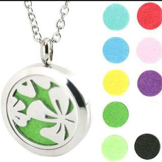 Essential Oil surgical Stainless Steel Perfume Diffuser Oils Locket Necklace
