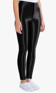 American Apparel black disco pants size medium