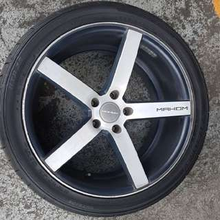 "For Sale: 19"" Staggered Tires & Rims"