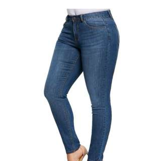LAD|018 Plus Size Five Pockets Jeans Slim (Pre-Order)