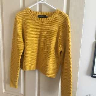 MINKPINK mustard sweater