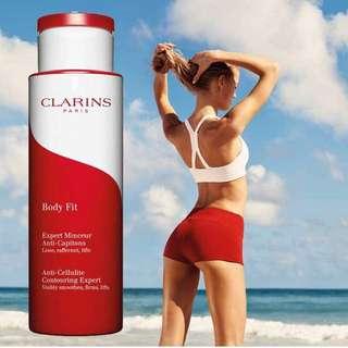 🍑蜜桃臀 Clarins body lift cellulite control lotion gel cream 去橙皮紋妊娠紋緊膚精華身體乳 大紅瓶 200ml