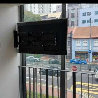 180 degree tv bracket supply and install