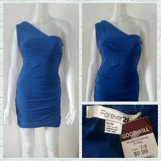 Forever 21 Royal Blue Bodycon Party Dress