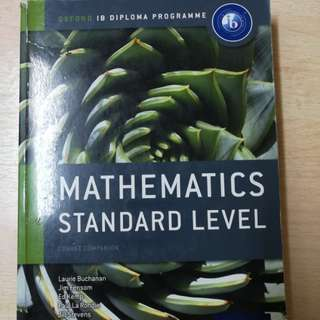 IB Diploma Programme Mathematics Standard Level