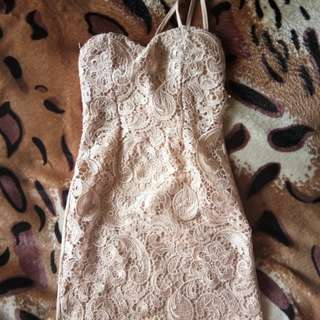 Party dress brown