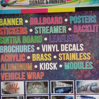 Affordable Signages, Tarpaulin, Acrylic,Sticker, Stainless, Kiosk,Modules, Panaplex and More