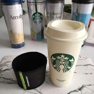 Starbucks Plastic Cup w/ Sleeve