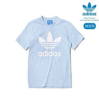 Adidas original 水藍色 短袖 上衣 Men