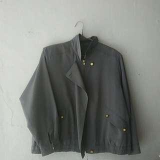 Jacket button vintage import bkk bangkok outer zipper