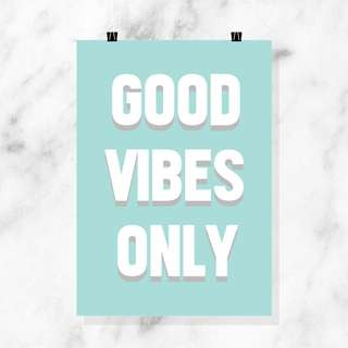 POSTER - GOOD VIBES ONLY