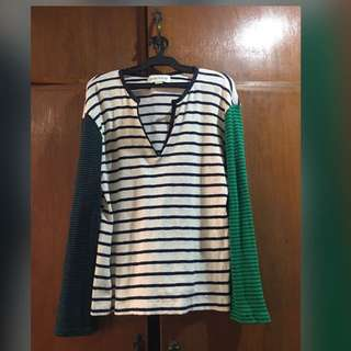 Tri-Color Long sleeves Top