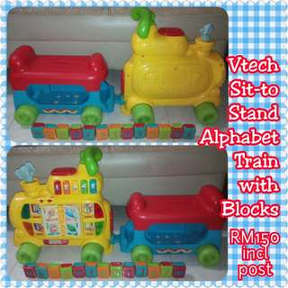 FREE POST Vtech Sit to Stand Alphabet Train