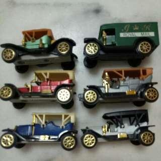 Miniature Rare Vintage cars (6pcs)