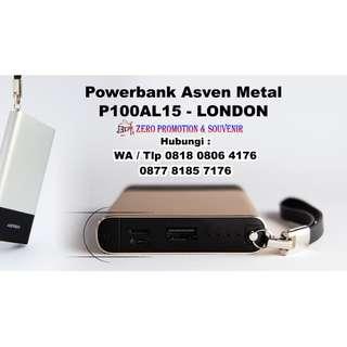 Souvenir Powerbank Asven Metal P100AL15 – LONDON