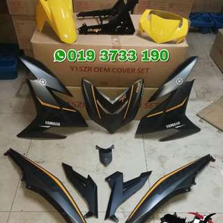 COVERSET Y15ZR MX KING KUNING GREY 2017 / 2018 MATTE