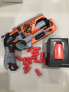 Nerf Zombiestrike Hammer Shot Mod O-Tac S1