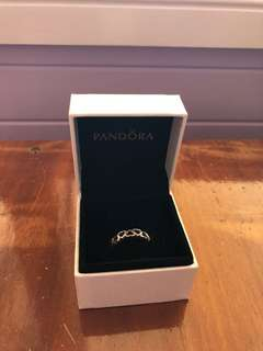 Pandora heart ring Size 54, sterling silver