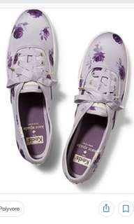 KEDS X Kate Spade New York Champion Satin Lilac Rose Sneakers Size 36