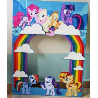 My Little Pony Party Photo Booth Frame