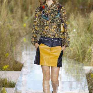 Coach 1941 leather skirt runway piece