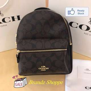 🌹🌹🌹SALE! Coach Women Charlie Backpack @ Dark Brown (Mini / Large Size) Ready Stock 👍