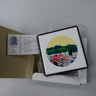 藝術擺設 神戶大橋 陶板画