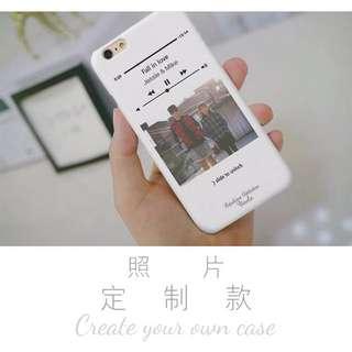 播放器照片定制 iphone8 6s 7 8 plus 手機殼case