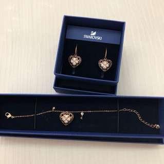 Swarovski Filigree Hearts Earrings & Bracelet