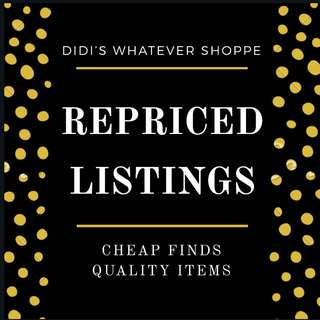 Repriced Items!