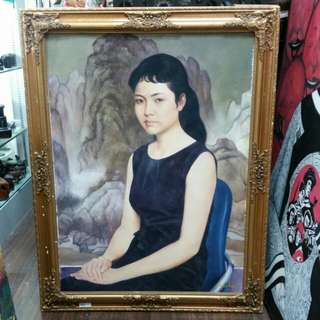 Oil On Canvas painting 'First lady of China Peng Liyuan 彭丽媛' L72xH92cm By Wu Mao Er