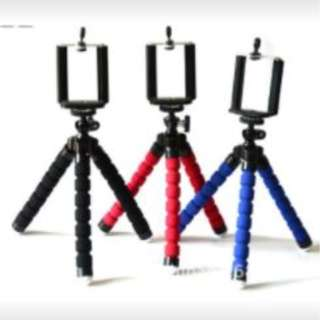 Portable Phone Holder Digital Camera 15CM Flexible Tripods Octopus Stand for Camera/Smartphone (Red) Buy 1 Take 1