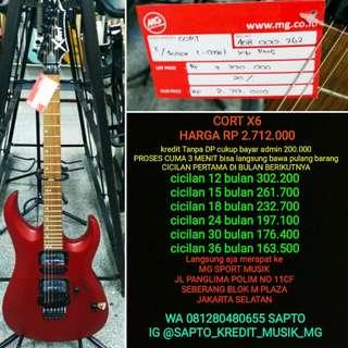 Gitar Cort X 6 cicilan Tanpa dp
