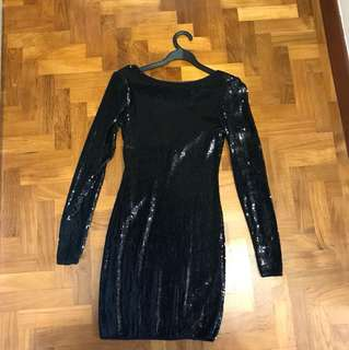 Black sequins classy dress by Warehouse