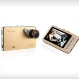 Full HD 1080P Car DVR HDMI Camera Video Recorder Dash Cam G-Sensor (Gold)