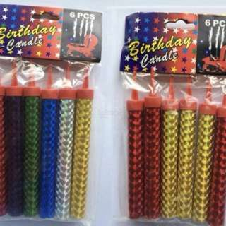 Fireworks birthday cake candles