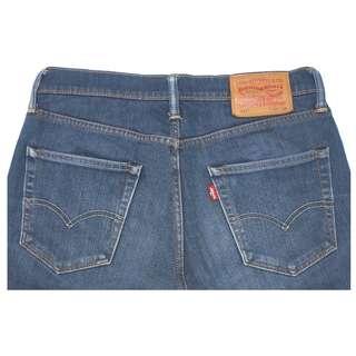 【4/1前任2件商品折150】LEVIS 511 深藍色 刷紋刷白 低腰窄管 直筒褲 31腰 (9成新)