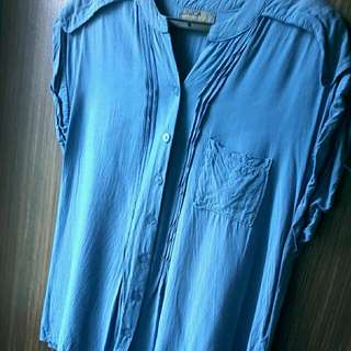 UNICA HIJA blue blouse
