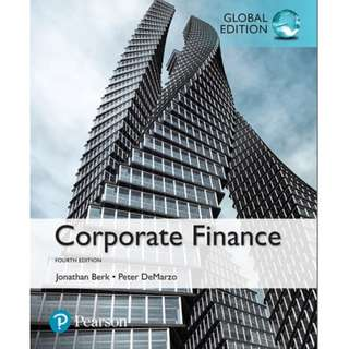 Corporate Finance, Global Edition, 4th Edition eBook