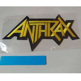 Anthrax - Logo Shaped Back Patch Band Merch