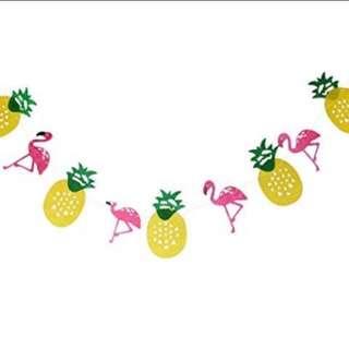 Flamingo & Pineapple Bunting