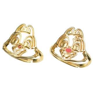 Japan Disneystore Disney Store Chip & Dale Line Ring Set