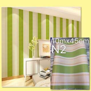 DIY Wallpaper Stripes