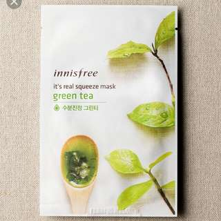 Innisfree Masks Green Tea it's real squeeze