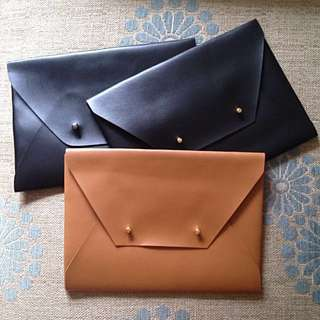 Faux Leather Envelope Clutches