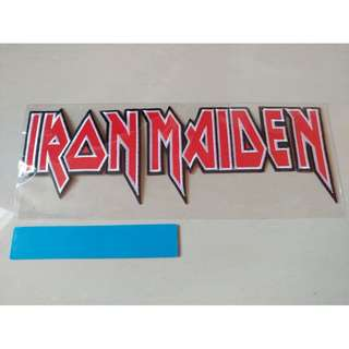Iron Maiden - Logo Shaped Back Patch Band Merch