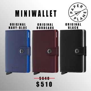 荷蘭SECRID 智能防盜Miniwallet真皮銀包 - 原始藍/ 酒紅/ 黑 Original Navy-blue/ Bordeaux/ Black(藍/ 紅/ 銀鋁)
